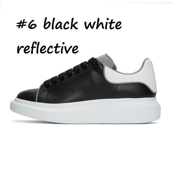 6 blanc réfléchissant noir