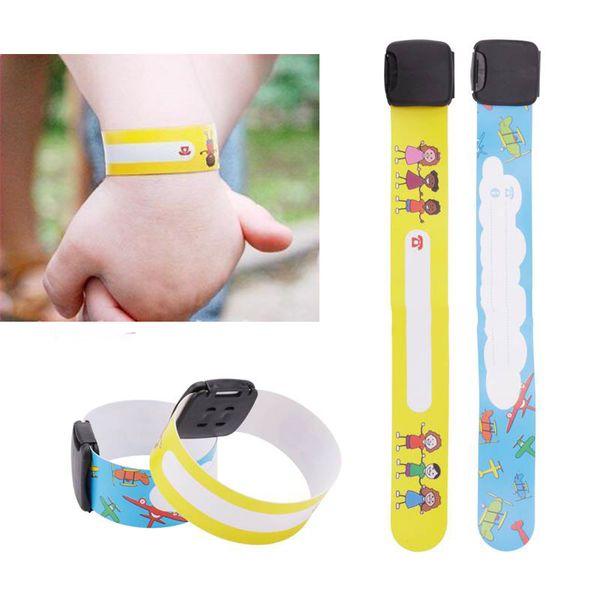 8Pcs/Lot Safety ID Identity Bracelet For Kids Adjustable Waterproof Wrist Strap Children Travel Outdoor Safe Anti-lost Wristband