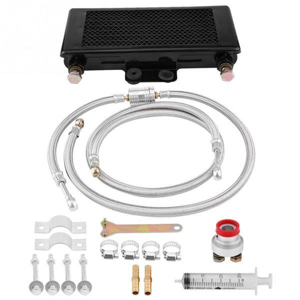 Atualizado Motor 125ml Radiador de óleo Oil Kit Sistema de resfriamento para GY6 100CC-150CC refrigerador refrigerar Motor Acessórios