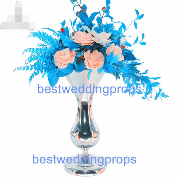 blue decorative vases.htm new style fantasy silver trumpet metal flower vase for wedding  silver trumpet metal flower vase
