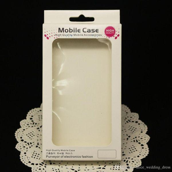 Universalpapier-Plastikkleinpaket-Verpackenkasten für iphone 6 7 8 X XS plus Telefon-Kasten Samsungs S8 S9 S10