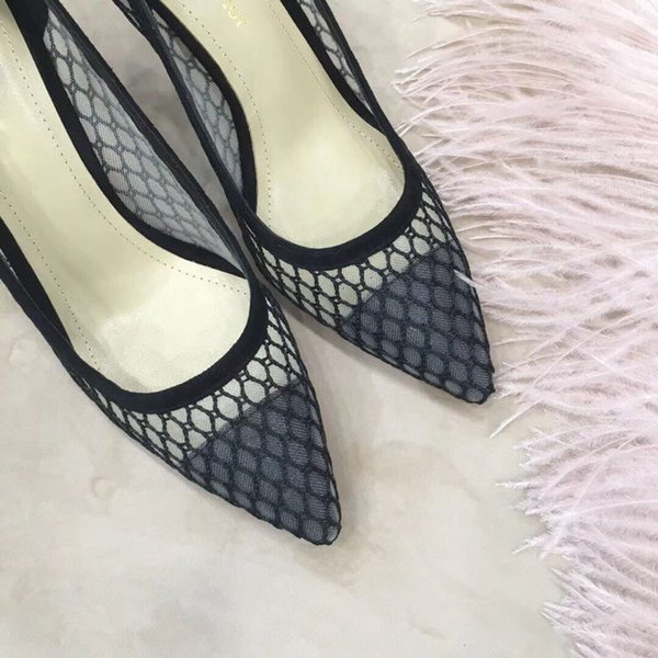 Hot Sale-2019 Cheap the latest spring and summer series of shoes, black and sexy mystery with high 7.5CM size 34-40