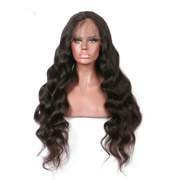 Big Body Wave Medium Size Cap Swiss Lace Human Hair Wigs Bleached Knots Full Lace Wigs Brazilian Malaysian Lace Front Wigs