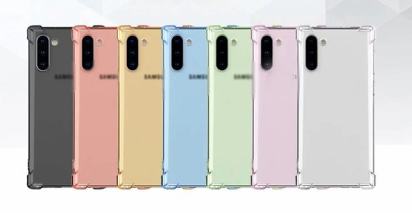 Shockproof Soft TPU Case For Samsung Note 10 Note10 Pro Iphone 11 5.8 6.1 6.5 2019 Four Corner Transparent Airbag air bag Anti Shock Cover