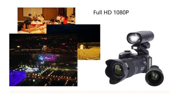 PROTAX POLO D7300 Digitalkameras 33MP Professionelle SLR-Kameras 24fach optischer Zoom Telebilder 8X-Weitwinkelobjektiv LED-Scheinwerfer-Stativ