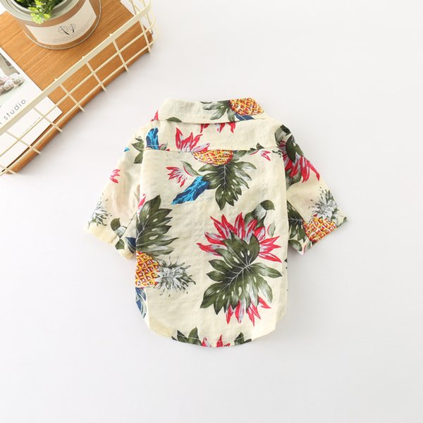 Summer Autumn New Dog Shirt Pet Clothes Fashion Cotton Close-fitting Breathable Comfortable Casual Cotton Universal Multi-pattern