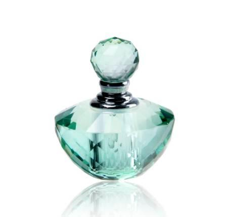 4ML 2inch Unique Mini Crystal Glass Green Woman Travel Perfume Bottle Empty Art Bottle Refillable Container Wedding Lady Gift