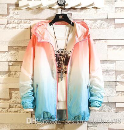 2019 Abbigliamento estivo per la protezione solare degli uomini magri amanti sciolto giacca sfumata giacca pelle camicia aria condizionata