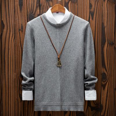 Winter New Sweater Männer Slim Fit Fashion bequeme Breathable Warm Männerkleidung Street Langarm-O-Ansatz Knit-Pullover