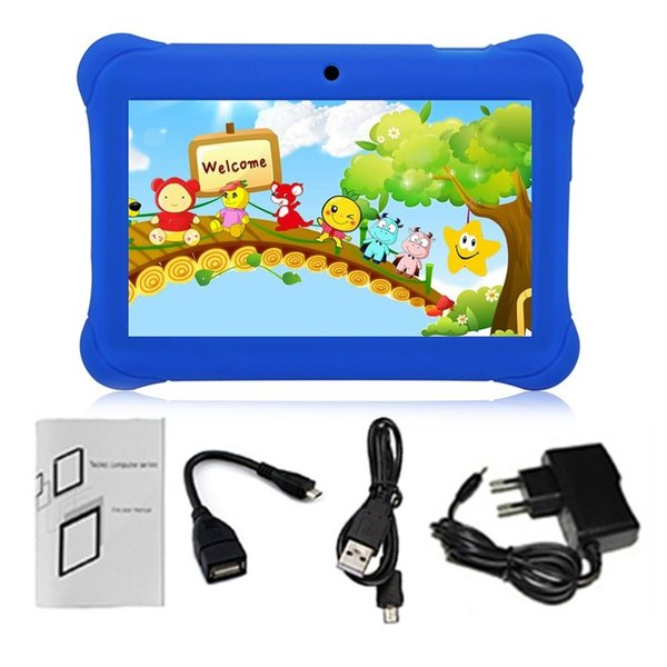 Q88 Crianças Tablet Tela Sensível Ao Toque de 7 Polegadas 512 MB + 8 GB Crianças Pad Estudantes Aprendizagem Tablet Com Hi-Fi Stereo Speaker AU Plug