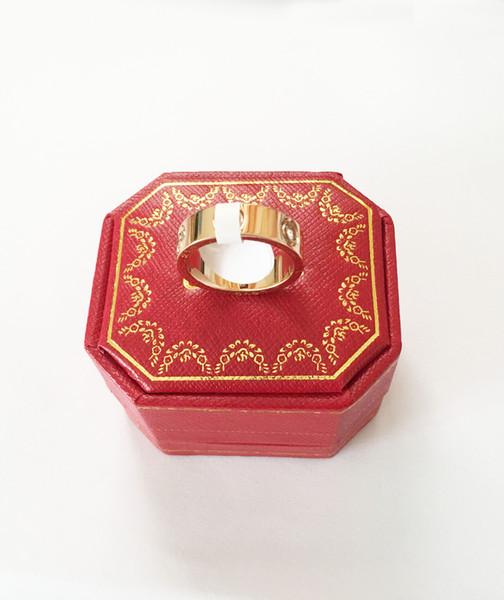 Alianzas de boda Anillos de amor para las mujeres Lujo Cubic zirconia oro rosa / plata / oro anillo de compromiso joyería de los hombres Regalos para mujer Con original pa