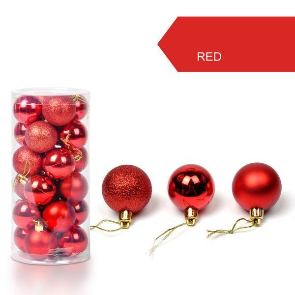 30mm Christmas Xmas Tree Ball Bauble Hanging Home Party Ornament Decor 24Pcs Christmas Decorative Balls #106