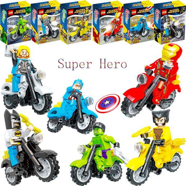 Super Hero Building Blocks Iron Man Robin Hulk Spiderman Ninjago Master Wu Compatible With LegoINGly Ninja action figures kids toys