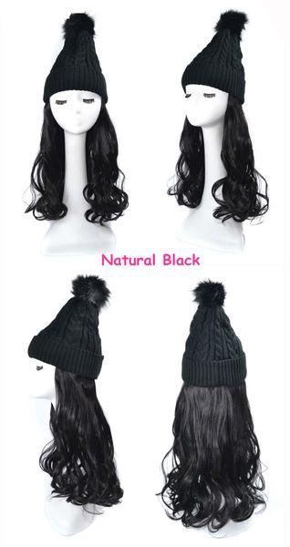 Black wig natural black Wave Hair