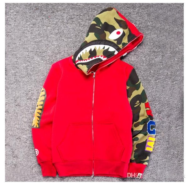 151a144762ccb Mens Fashion Men Shark Hoodies Embroidery Shark Ma1 Flight Male Tide Shark  Hoodie Men ' ;