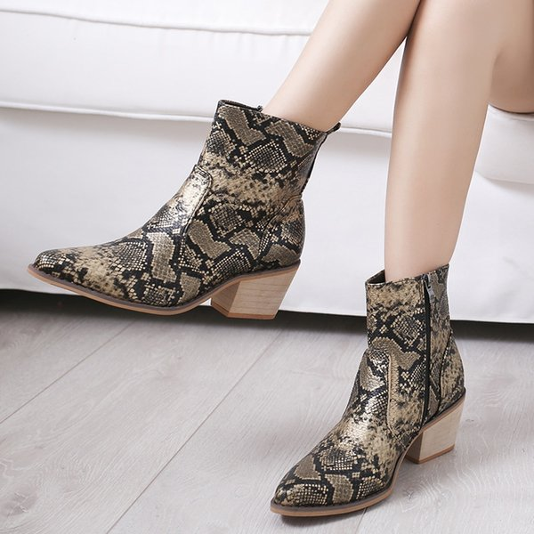 Litthing Spring Bottes cuissardes en cuir cow-boy Slip-On Western Filles Toe Motorcycle Femme Pointu