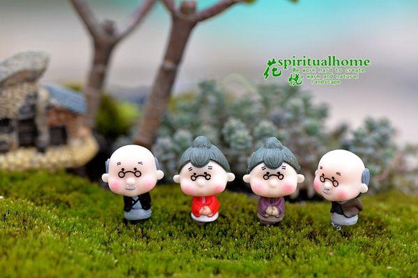 2019 artesanías casa de muñecas bonsai miniaturas DIY Granny hada jardín gnome animales musgo terrario decoración de escritorio en casa