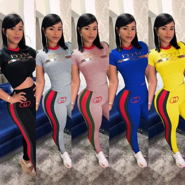 mujer manga corta 2 piezas set diseñador chándal camisa pantalones conjunto ropa deportiva sudadera con capucha leggings deporte conjunto camisa pantalones deporte traje S-3XL