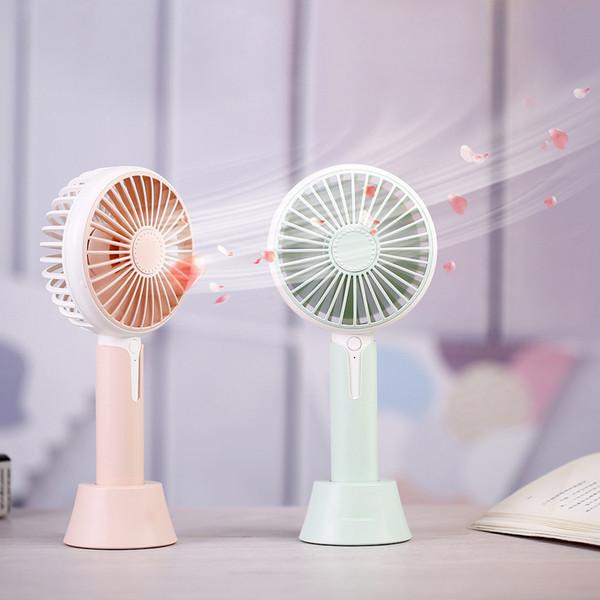 Protable Cute Fan USB Mini Ventilador eléctrico Mesa 3 velocidades Viento Ajustable Cool Mist Maker para el hogar