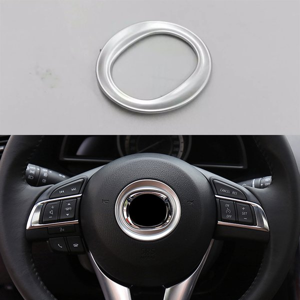 Interior Steering Wheel Trim Horn Cover Decoration For Mazda 6 Atenza 2014-2015