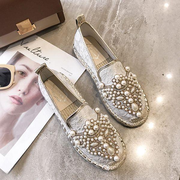 Espadrilles Marka Tasarımcısı Inci Bahar Kadın Ayakkabı Balıkçı Ayakkabı Tuval Kayma-Rahat Rahat Rahat kadın Flats Loafers