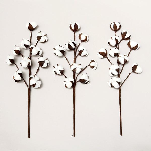 3PCS/LOT artificial cotton flower single branch 10 petals 52cm simulation flower DIY wedding decoration for home party office C18112601