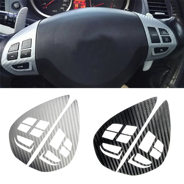 Heap Automotive Interior Adesivos Áudio Cruzeiro Cruzeiro Botão Diretor de Volante Botão Botão Adesivo Autocolante Guarnição Para Mitsubishi ASX Lancer O ...