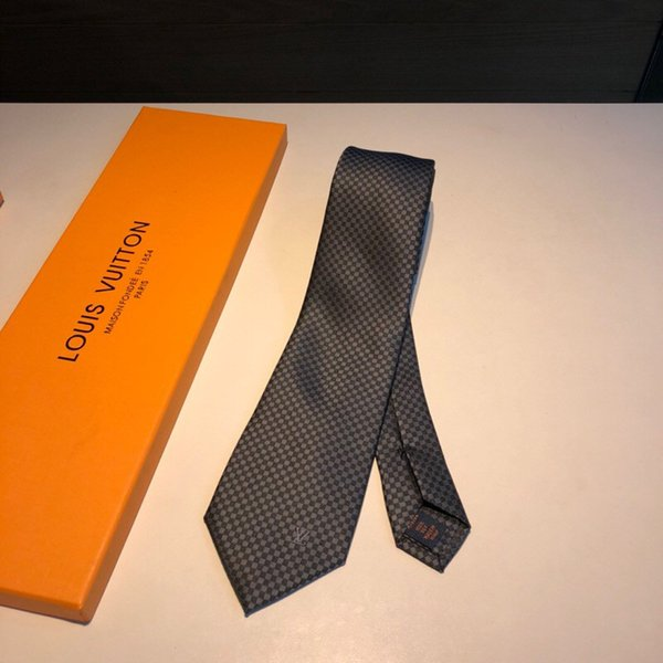 Classical Mens Neck Ties L Letter Checkerboard Neckties 2 Colors Business Tie Christmas Gifts High Quality 148*8CM