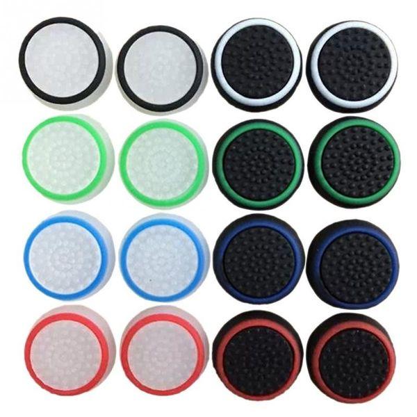 16pcs / 8pairs Jogo Pads Capa protetora de silicone aperto Thumb Stick Caps para PS4 / Xbox 360 / PS3 / Xbox um Controladores de jogo de acessórios