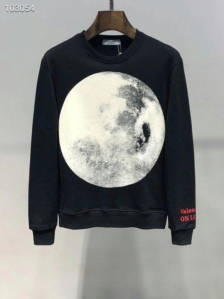 Sudadera para hombre Sudadera de algodón para mujer Moon Letter Print Youth Student Sweater Fashion Joker Top