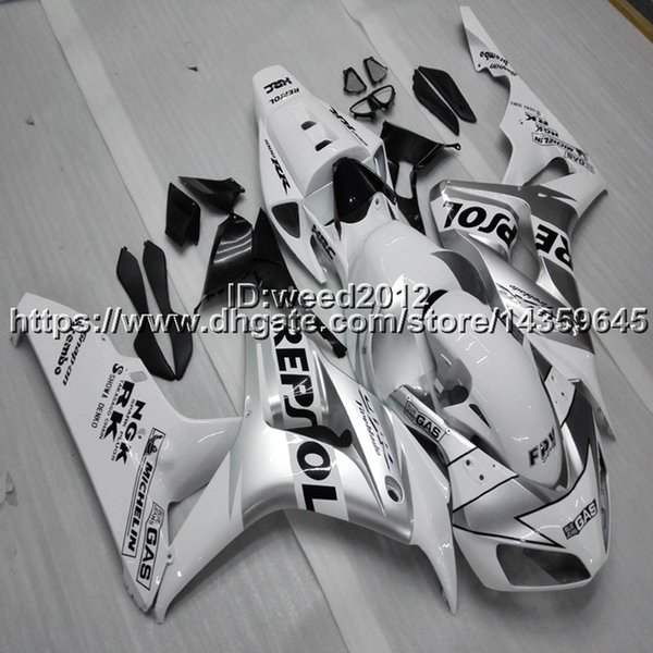 23colors+Custom Injection mold repsol silver ABS motorcycle article for HONDA CBR1000RR 2006 2007 motor panels
