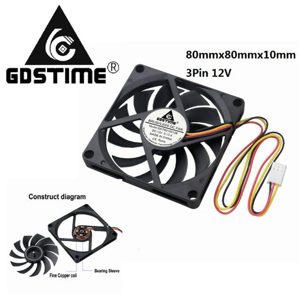 2019 Fan Fans Cooling Gdstime 80x80mmx10mm Cooling Fan 80mm X 10mm Dc V Computer Fan Wiring Diagram on