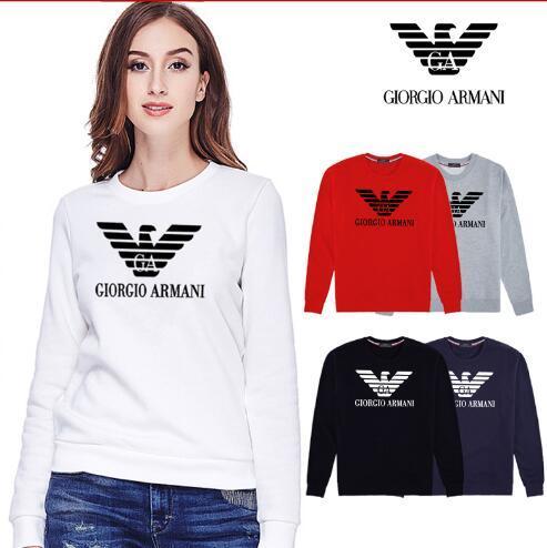 2019 Women's new simple monogram print Korean version loose casual long sleeve hoodie hoodie no hoodie