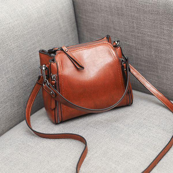 Kajie Luxury Women Bags Designer Bolsos de cuero genuino Bolso de hombro Mujer Crossbody Messenger Bag Sac A Main MX190716