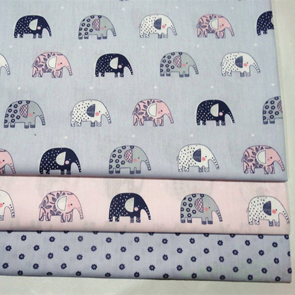 Amazing elephant style print 100%cotton fabric for baby cloth 10yards/lot tomo1837