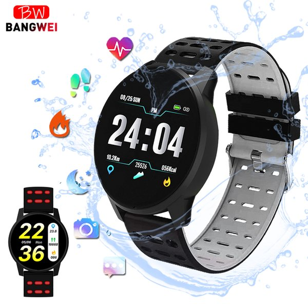 Smart Bangwei Women Sport Smart Watch Men Led Waterproof Smartwatch Heart Rate Blood Pressure Pedometer Watch Clock For Android Ios Watches