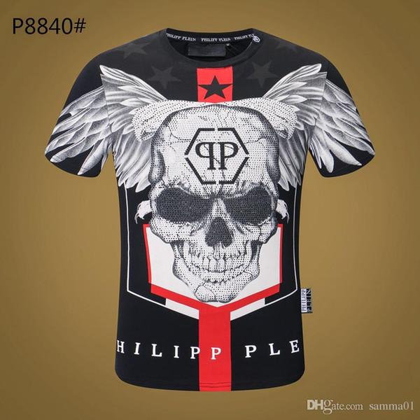 Haute Qualité Designer Marque mens designer t-shirts Skulls Chaud drillingT Shirt Hommes Vêtements Manches courtes Coton Tshirt Femmes Tops M-3XL