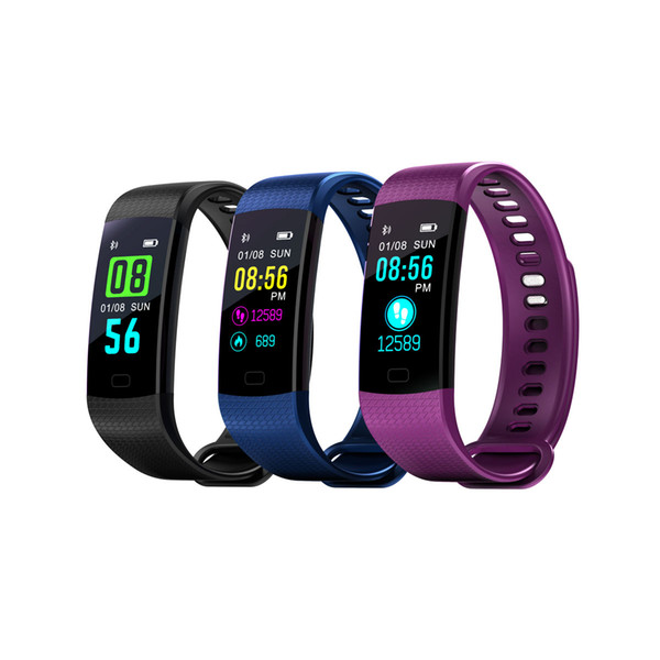 the Y5 Smart Watch Blood pressure heart rate sports color screen step meter smart bracelet watch heart rate smart sport