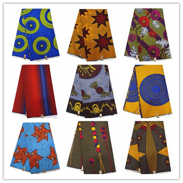 Durado africano de impresión 100% de cera de poliéster 2019 tela de la impresión africano tela ankara cera ankara 1401