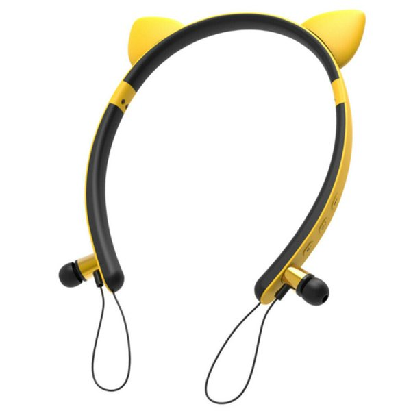 Wireless Bluetooth Ear Headset Neckband for Girls, 4.2 Magnetic Earplug Stereo Sport Headset Headphones, Gaming Headsets with Built in Mic