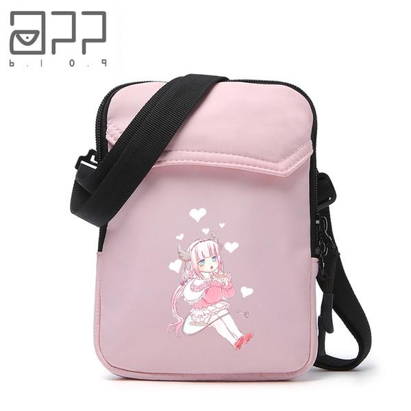 APP BLOG Anime Miss Kobayashi's Dragon Maid Crossbody Bags For Women Girl Boy Teenager Bolsa Feminina Shoulder Phone Money Bag