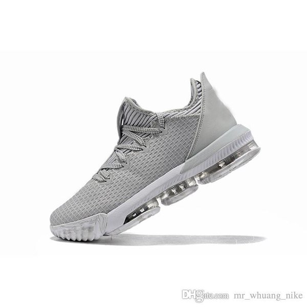 Mens lebron 16 low basketball shoes Wolf Grey USA SuperBron Red White Gold Draft Youth kids new lebrons sneakers boots with box size 7 12