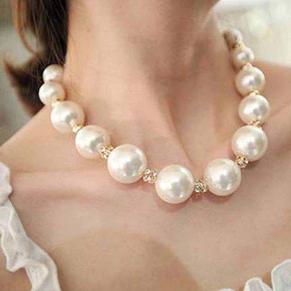 2018 Grand Simulé Perle Femme Collier Indien Bijoux Sautoirs De Mode Africain À La Main Collier Déclaration Pour La Partie Collares