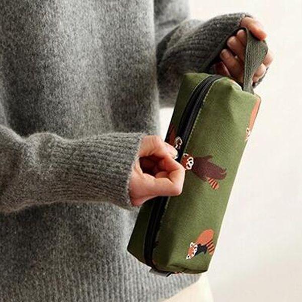 Neceser De Maquillaje Cartoon Printing Cosmetic Bag Case Novelty Canvas Pencil Case Make Up Bag Portable Multifunction Organizer