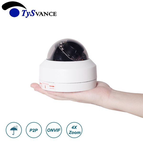 Onvif 1080P HD 2MP H.265 IR 50m Indoor Mini 2.0MP CCTV Security IP PTZ Dome Camera 4X Optical Zoom Home Network