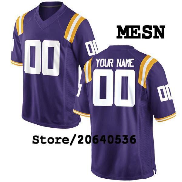 Cheap Custom LSU Tigers College jersey Mens Women Youth Kids Personalized Any number of any name Stitched White Football jerseys NCAA