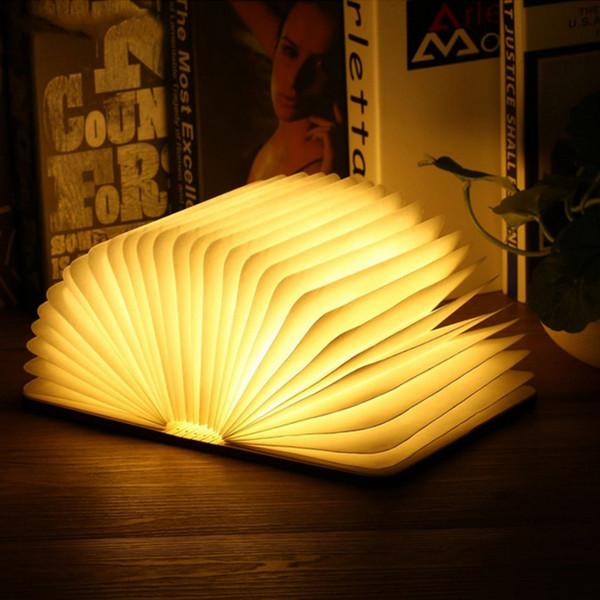 LED Lesebuch Wiederaufladbare Nachtlicht Faltbare Lampe USB Licht Wohnkultur DE