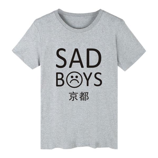 Новый Стиль Повседневный дизайнер с коротким рукавом футболка Yung LEAN Sad Boys pattern 65% хлопок тонкий материал футболка снисходительность лето легкая одежда для отдыха
