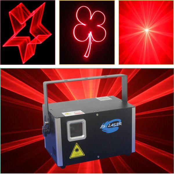 Spedizione gratuita 2W singolo colore rosso sd card Laser Stage Disco Party Stage luci con interfaccia ILDA