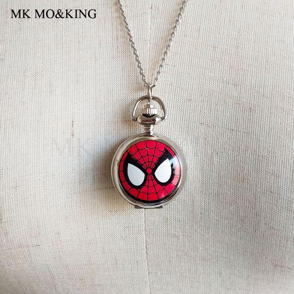 Montres de bande dessinée montre de poche rouge mode garçon et fille horloge à quartz montres de sport montre analogique belle montre bijoux